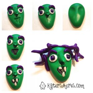 Polymer Clay Witch Tutorial by KatersAcres | Great tutorial for pendants, ornaments, or even flat backed charms