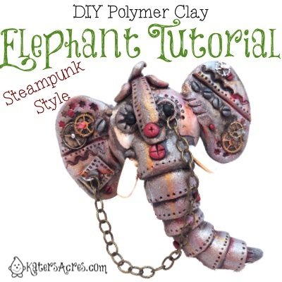 "The Friesen Project: Polymer Clay Elephant Tutorial - ""Steampunkery"" Style by KatersAcres"