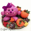 Autumn Lolly StoryBook Scene | Handmade Fall Figurine from KatersAcres