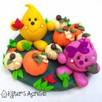 Autumn Pumpkin Patch StoryBook Scene Featuring Parker & Lolly | Handmade, Limited Edition Collectible, Made by Katie Oskin of KatersAcres