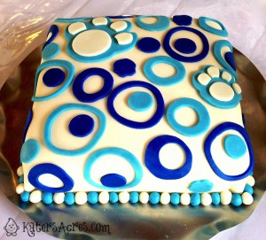 Cougar print cake made by Jennifer of A Flexible Life