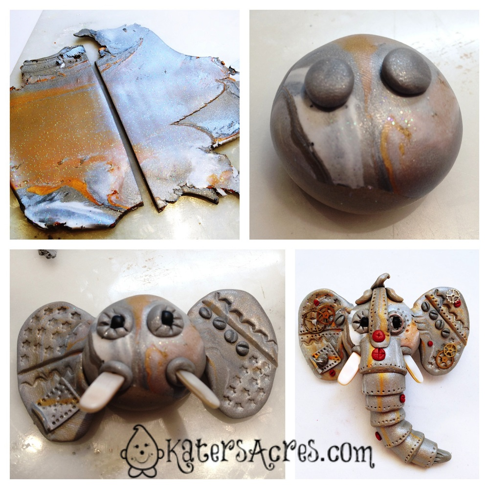 Steampunk Elephant Tutorial by KatersAcres | In Conjunction with The Friesen Project of 2013