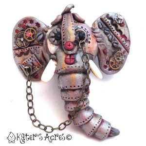Steampunk Elephant by KatersAcres