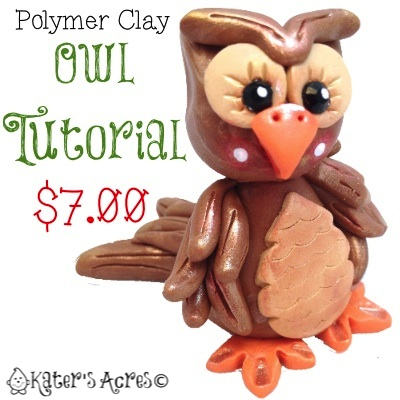 Polymer Clay Owl Tutorial by KatersAcres | Perfect for clay, sugar paste, gum paste, fondant, and more