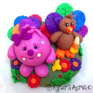 Thanksgiving Turkey Lolly StoryBook Scene by KatersAcres | Great for Thanksgiving & Fall Decorations