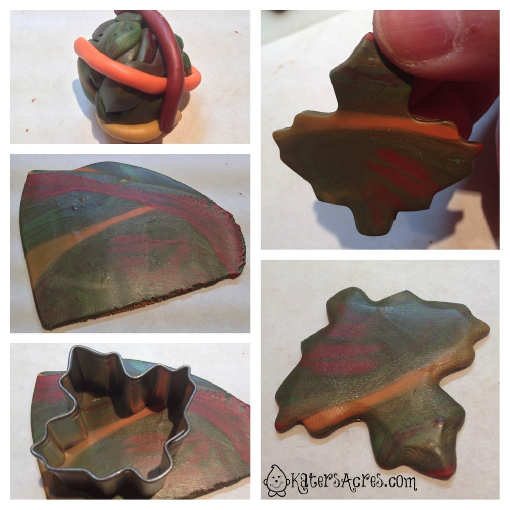 Polymer Clay Leaf Pin Tutorial by KatersAcres | Make Your Own Cute Pin to Wear This Fall Season