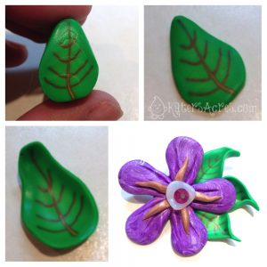 Simple Flower Tutorial - Adding the Leaf Canes to Your Flower