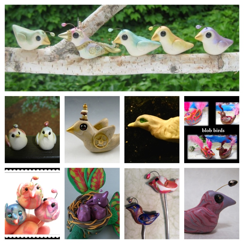 Friesen Project Blob Birds | Artists Grassel, Winters, Friesen, Vyselaar, Wareing, Oskin, Dienstber, Wright, Cederquist