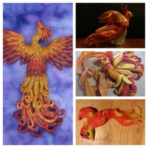 Fiery Phoenix | Artists Laurie Grassel, Shannon Winters, Patty Schneider, & Melody Crisman