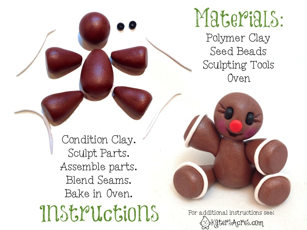 Gingerbread Man Tutorial Instructions by KatersAcres