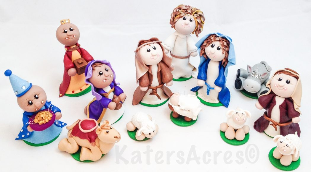 13 Piece Nativity Set by Katie Oskin of KatersAcres