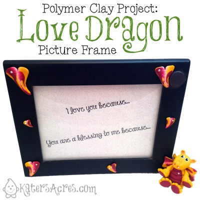 Polymer Clay Project: Love Dragon Picture Frame a Polymer Clay Dragon Tutorial by Katie Oskin