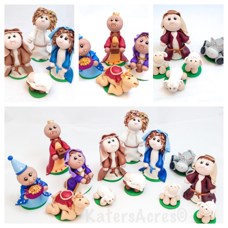 Nativity Set - 13 Pcs Finished by Katie Oskin
