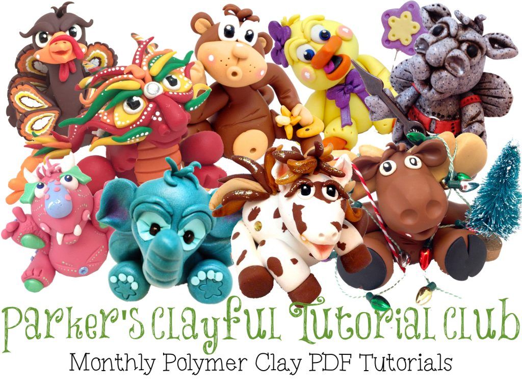 Parker's Clayful Tutorial Club | Bi-Monthly PDF Tutorials from KatersAcres