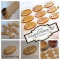 Faux Stamped Metallic Tags from Polymer Clay by KatersAcres