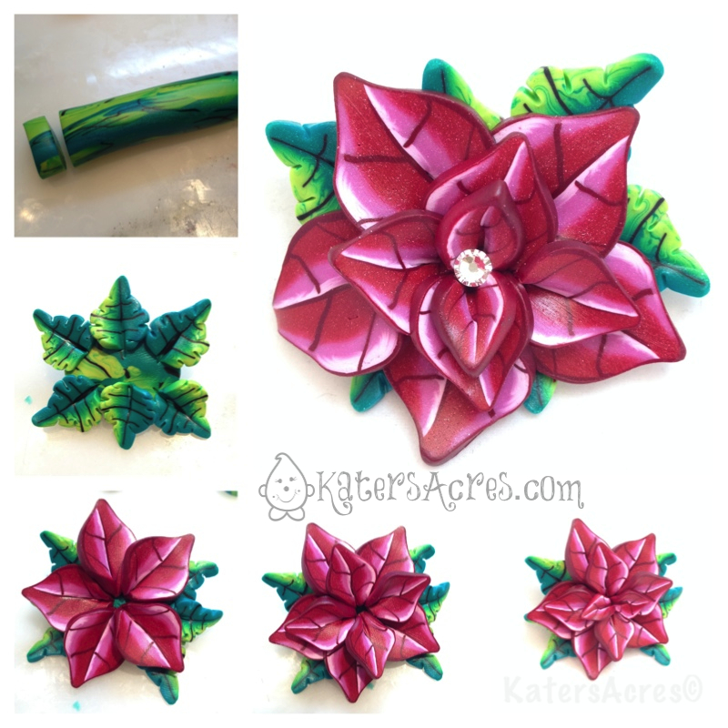 Caned Poinsettia Flower Tutorial - The Assembly by KatersAcres