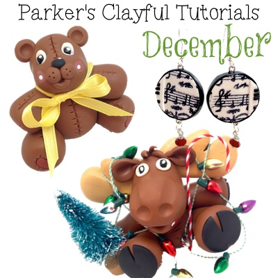 December 2013 - Parker's Clayful Tutorials Polymer Clay Club from KatersAcres