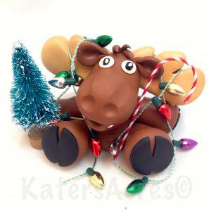 Chris-Moose Figurine by KatersAcres