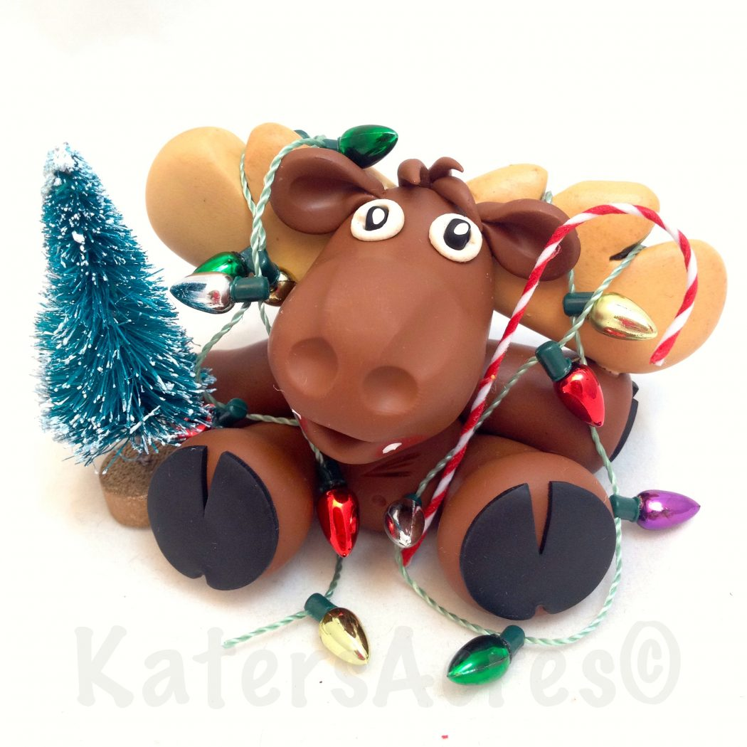 Chris-Moose Figurine by KatersAcres