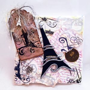 Paris Themed Mixed Media Collage Tutorial