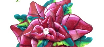 Polymer Clay Poinsettia Tutorial by KatersAcres