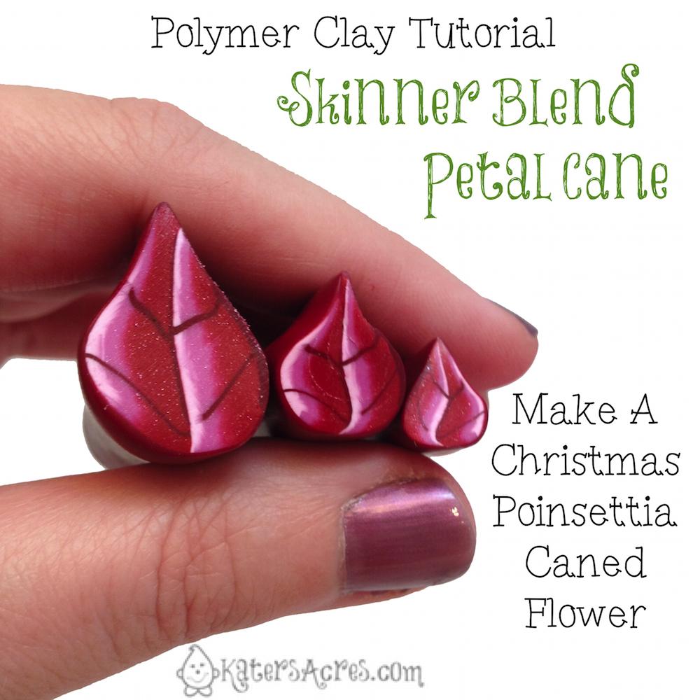 Skinner Blend Flower Petal Cane - Poinsettia Part 1 by KatersAcres