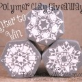 Polymer Clay Snowflake Cane Giveaway