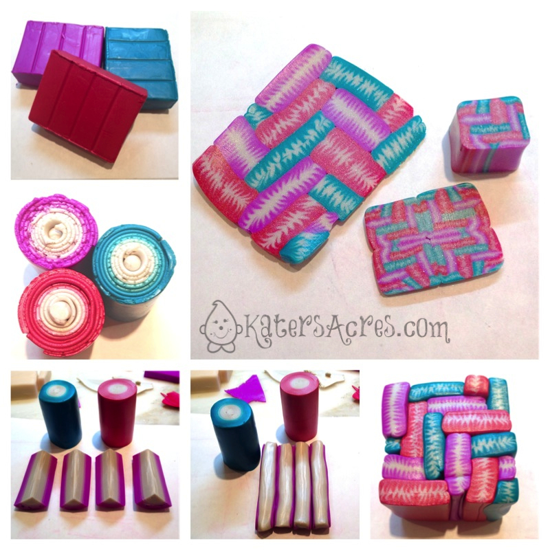 Polymer Clay Millefiori BasketWeave Cane by KatersAcres