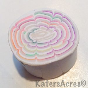Polymer Clay Chrysanthemum Cane by KatersAcres - Made Using Scrap Clay