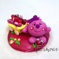 Valentine's Day Lolly with Hearts - Polymer Clay StoryBook Scene by KatersAcres