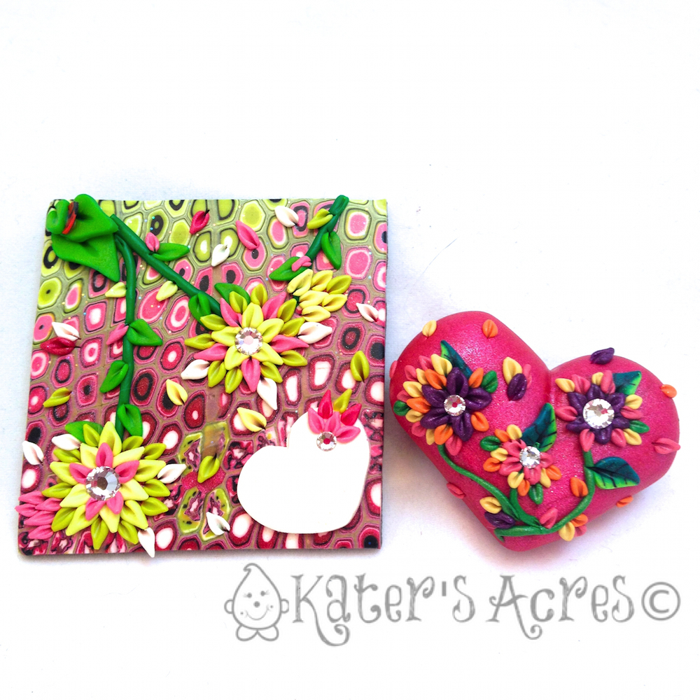 International Polymer Clay Swap for Valentine's Day by KatersAcres
