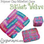 Polymer Clay Millefioiri Cane - BasketWeave by KatersAcres