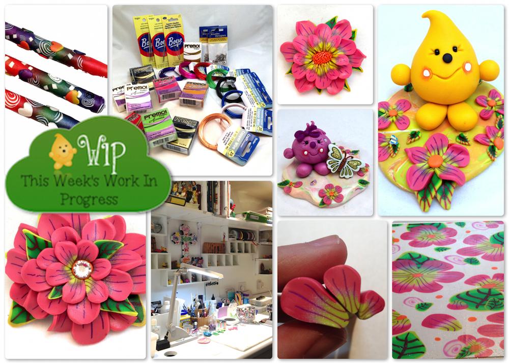 WIP Wednesday 012914 - Behind the Scenes in KatersAcres Polymer Clay Studio