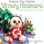 Winter Snow Fun Miniatures Tutorial by KatersAcres | For polymer clay, fondant, sugar paste, & other sculpting mediums