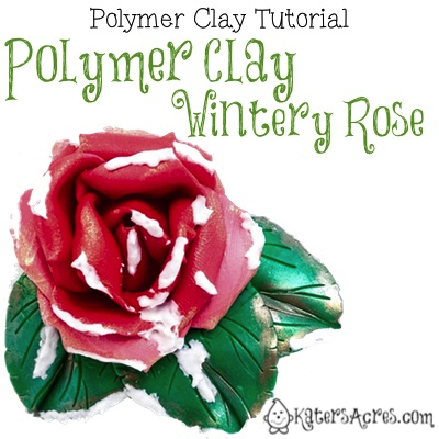 Wintery Rose Tutorial by KatersAcres | For polymer clay, fondant, or other sculpting mediums