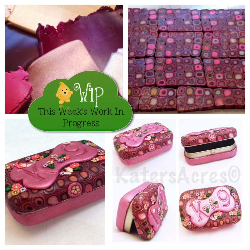 Polymer Clay Covered Altoid Tin: Puppy Pill Holder by KatersAcres