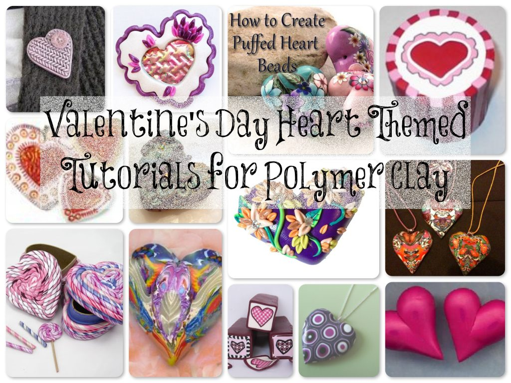 Valentine Heart Tutorial Links for Polymer Clay on KatersAcres Blog