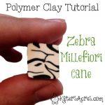 Zebra Millefiori Cane Tutorial by KatersAcres.com