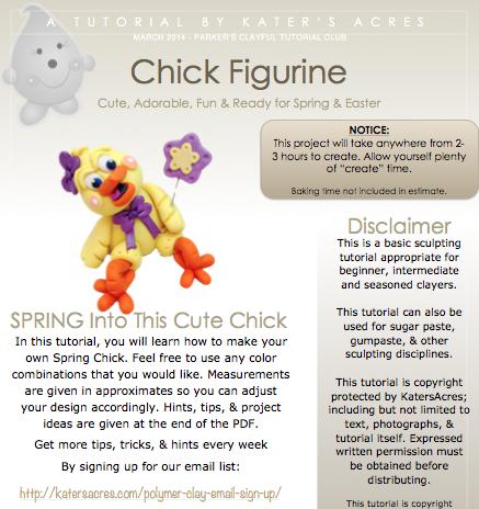 Chick Figurine PDF Preview