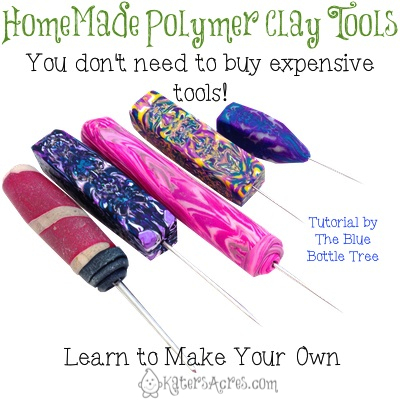 Homemade Polymer Clay Tools by KatersAcres | Tutorial by The Blue Bottle Tree