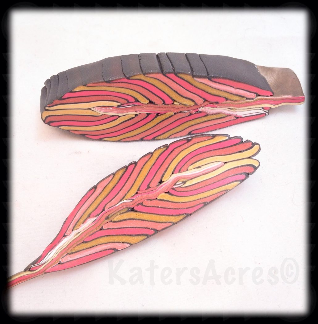 Feather Cane by KatersAcres | Made from Donna Kato's Tutorial