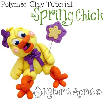 Polymer Clay Chick Tutorial by KatersAcres | A Parker's Clayful Tutorial Club Exclusive
