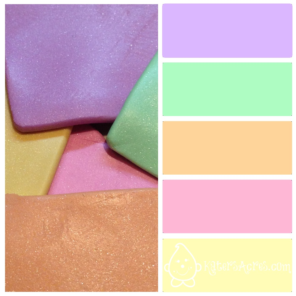 spring color palette metallic pastels for polymer clay katersacres