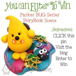 PIN IT TO WIN IT! Bug Parker StoryBook Scene Giveaway | Enter to Win Your Very Own Parker Collectible Figurine, Handmade by Katie Oskin of KatersAcres