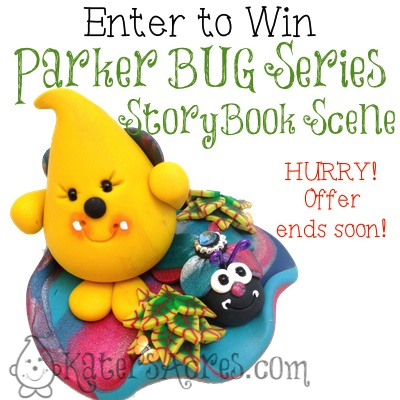 Bug Parker StoryBook Scene Giveaway | Enter to Win Your Very Own Parker Collectible Figurine, Handmade by Katie Oskin of KatersAcres
