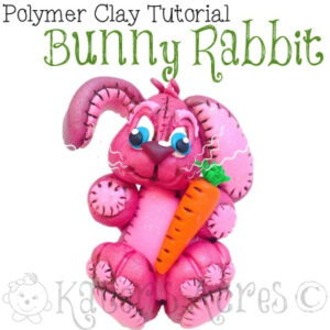 Polymer Clay Bunny Rabbit Tutorial by KatersAcres | A Parker's Clayful Tutorial Club Exclusive - April 2014