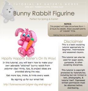 Polymer Clay Bunny Tutorial PDF Screenshot