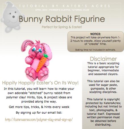 Polymer Clay Bunny Tutorial PDF Screenshot