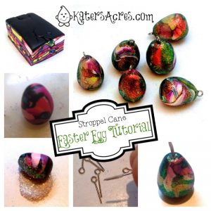 Stroppel Cane Easter Egg Steps by KatersAcres | A fun, easy, & quick polymer clay project