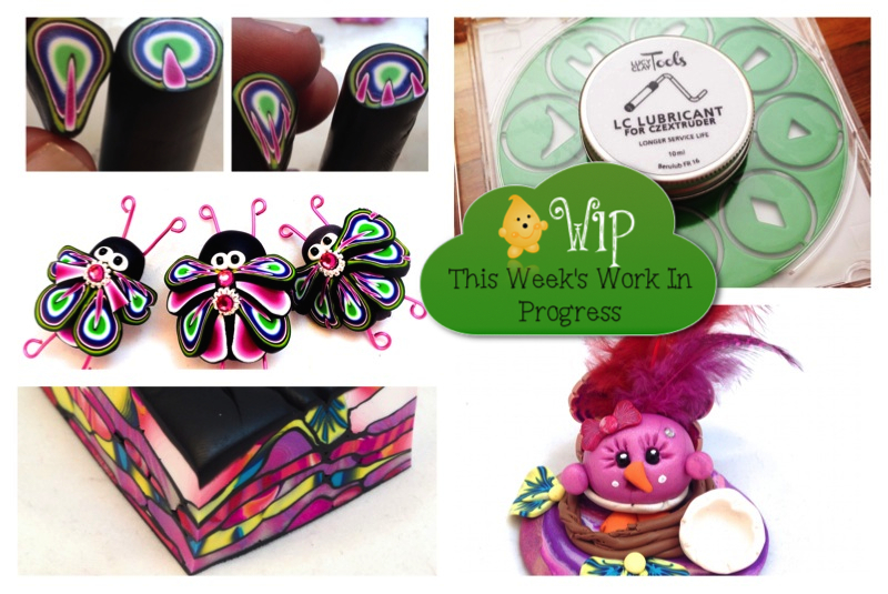 WIP Wednesday in Kater's Acres Polymer Clay Studio | Daring to Try New Things